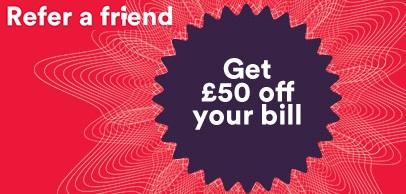 Virgin Media £50 credit when you sign up!