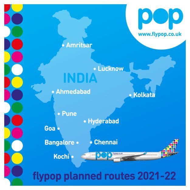 Low Cost Fares To India 'Popup' via FlyPop